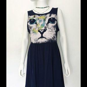 Dresses & Skirts - Super Cute Babydoll Cotton Dress White Cat Tunic